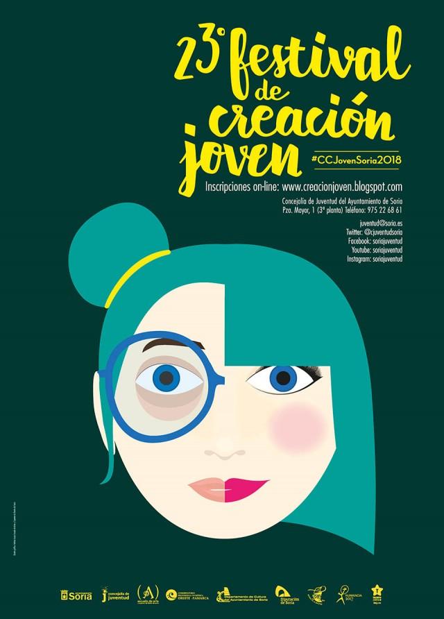 Cartel Certamen de Creación Jóven 2018 - Escuela de Arte y Superior de Diseño de Soria