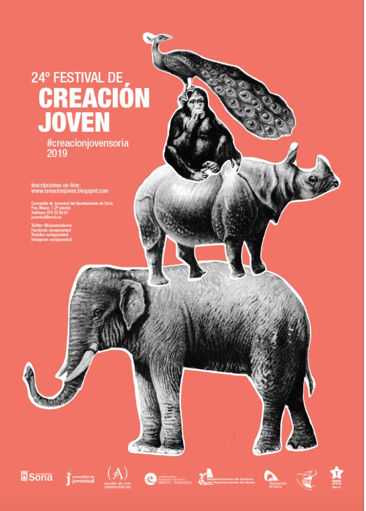 Cartel 2019 certamen de creación joven Ayuntamiento de Soria