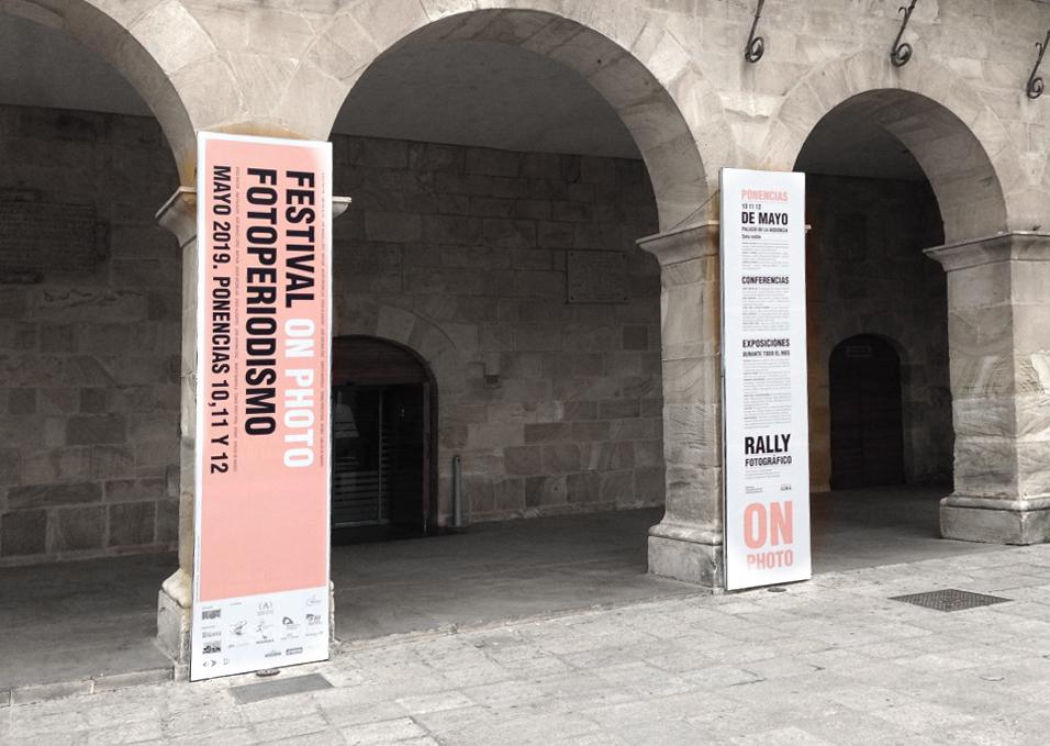 Gráfica en el espacio festival OnFoto Escuela de Arte y Superior de Diseño de Soria
