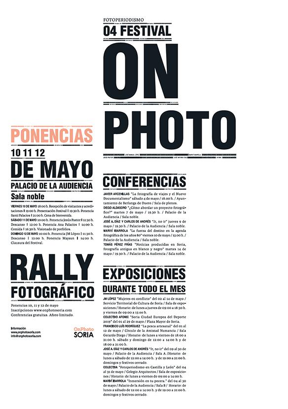 Gráfica para el festival OnFoto Soria organizado por AFOMIC
