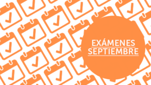 Exámenes septiembre